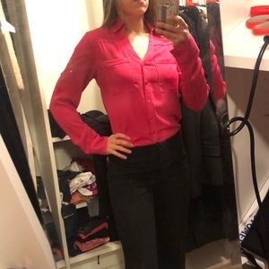 Hot pink Blouse XS